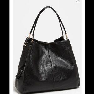 Coach Madison Phoebe pebbled leather shoulder bag